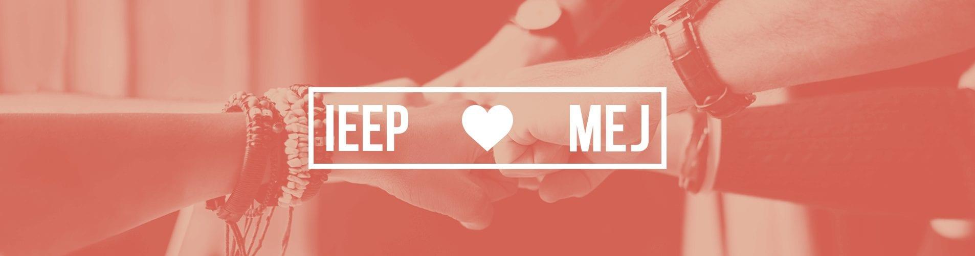 Mãos em conjunto mostrando parceria e o texto IEEP s2 MEJ